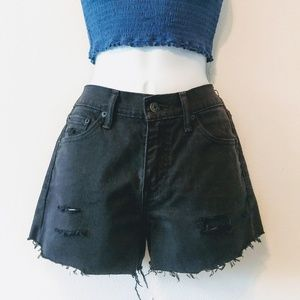 ❤️50% SALE! Levi's Black Denim Jean Shorts Vintage
